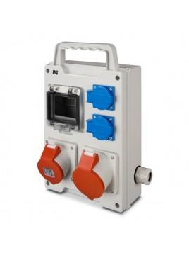 Rozdzielnica siłowa RS przenośna 4-modułowa 2x230V 1x16A/5P 1x32A/5P 6213-00 Elektro-Plast