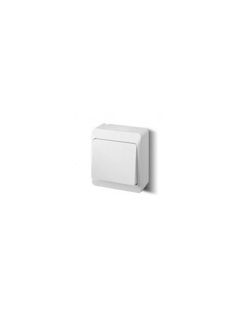 Łącznik pojedynczy uniwersalny/schodowy natynkowy IP44 biały 0331-02 Hermes Elektro-Plast