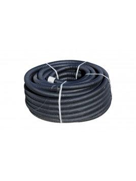 Rura karbowana dwuścienna RODK-UV 40 50m czarna TT PLAST