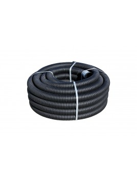 Rura karbowana dwuścienna RODK-UV 50 25m czarna TT PLAST