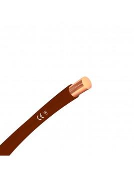 Przewód miedziany H07V-U 1,5mm2 brązowy DY 750V