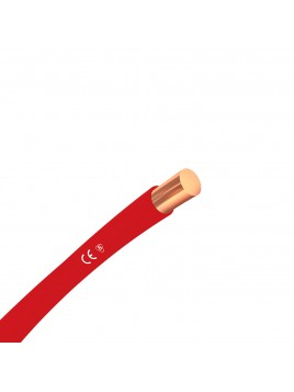 Przewód miedziany H07V-U 1,5 mm2 czerwony DY 750V