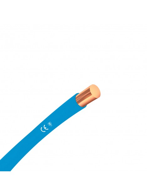 Przewód miedziany H07V-U 1,5 mm2 niebieski DY 750V