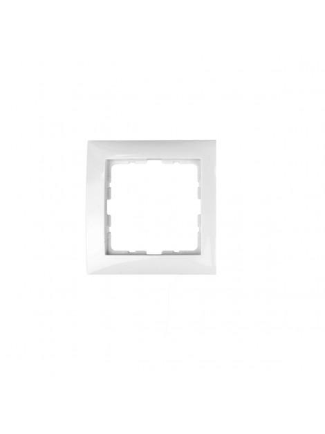 Ramka pojedyncza biała 5310118989 B.Kwadrat Berker