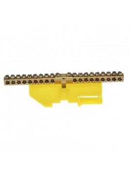 Listwa zaciskowa izolowana 18x10mm2 na szynę żółta LZN1803-Z