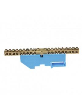 Listwa zaciskowa izolowana 18x10mm2 na szynę niebieska LZN1803-N