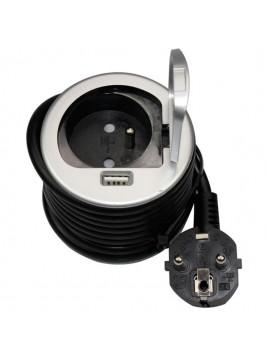 Gniazdo meblowe wpuszczane w blat 2P+Z USB OR-AE-1373 ORNO