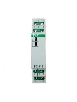Przekaźnik bistabilny grupowy na szynę BIS-412i 230V F&F