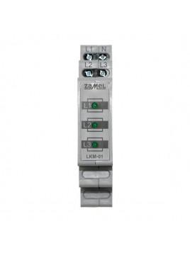 Wskaźnik zasilania na szynę 3-fazowy LKM-01-20 ZAMEL