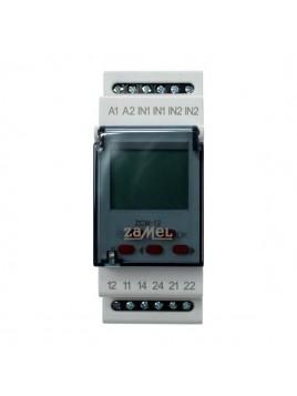 Programator czasowy ZCM-12 dwukanałowy ZAMEL