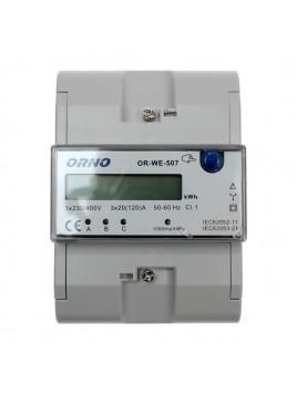 Licznik energii 3-fazowy 120A na szynę OR-WE-507 ORNO