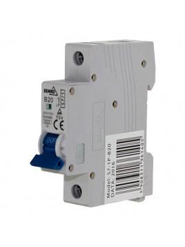 Wyłącznik nadprądowy 1P B 20 A00-S7-1P-B20 Bemko