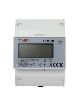 Licznik energii elektrycznej cyfrowy LEM-30 100A ZAMEL