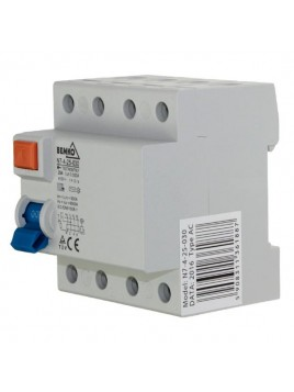 Wyłącznik róznicowoprądowy 4P 25A 30mA AC A05-N7-4-25-030 Bemko