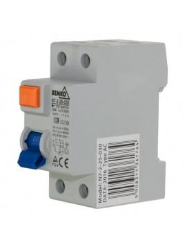 Wyłącznik różnicowoprądowy 2P 25A 30mA AC A05-N7-2-25-030 Bemko