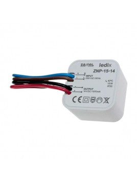 Zasilacz LED dopuszkowy 14V 15W ZNP-15-14 LEDIX