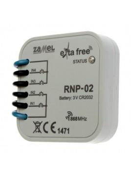 Radiowy nadajnik dopuszkowy 4-kanałowy RNP-02 Exta Free ZAMEL