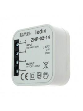 Zasilacz LED dopuszkowy 14V 2W ZNP-02-14 LEDIX ZAMEL