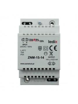 Zasilacz LED modułowy 14V 15W ZNM-15-14 LEDIX