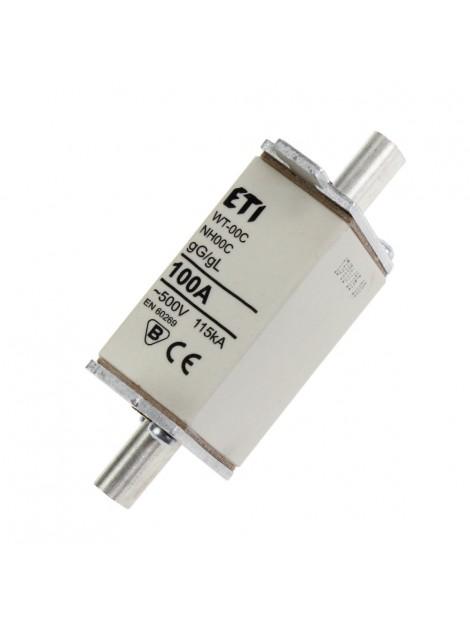 Bezpiecznik mocy WT-00 C 100A gL/gG 004111438 Eti