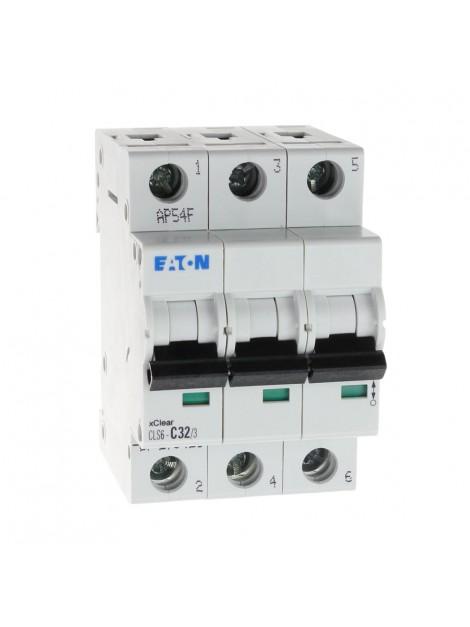 Wyłącznik nadprądowy 3P CLS6 C 32A 6kA AC 270423 Eaton Electric