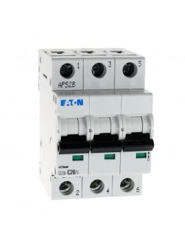 Wyłącznik nadprądowy 3P CLS6 C 20A 6kA AC 270421 Eaton Electric