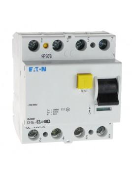 Wyłącznik różnicowoprądowy CFI6 4P 63A 30mA typ AC 235792 Eaton Electric