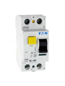Wyłącznik różnicowoprądowy CFI6 2P 40A 30mA typ AC 235760 Eaton Electric
