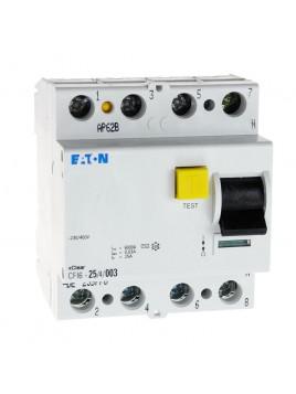 Wyłącznik różnicowoprądowy CFI6 4P 25A 30mA typ AC 235776 Eaton Electric
