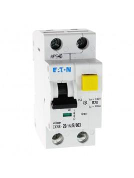 Wyłącznik różnicowoprądowy z członem nadprądowym CKN6 2P B 20A 30mA typ AC 241429 Eaton Electric