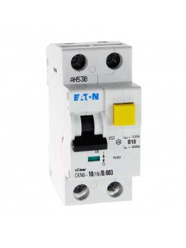 Wyłącznik różnicowoprądowy z członem nadprądowym CKN6 2P B 10A 30mA typ AC 241094 Eaton Electric