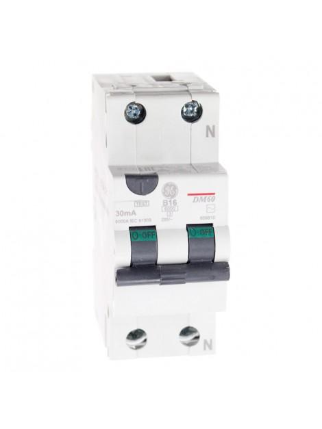 Wyłącznik różnicowo-nadprądowy 16A 0,03A 2P DM60B16/030 609810 Redline GE
