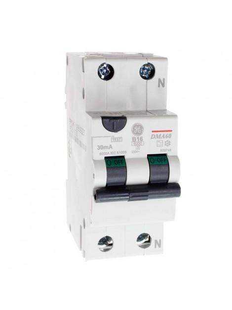 Wyłącznik różnicowo-nadprądowy 16A 0,03A 2P DMA60B16/030 609748 Redline GE