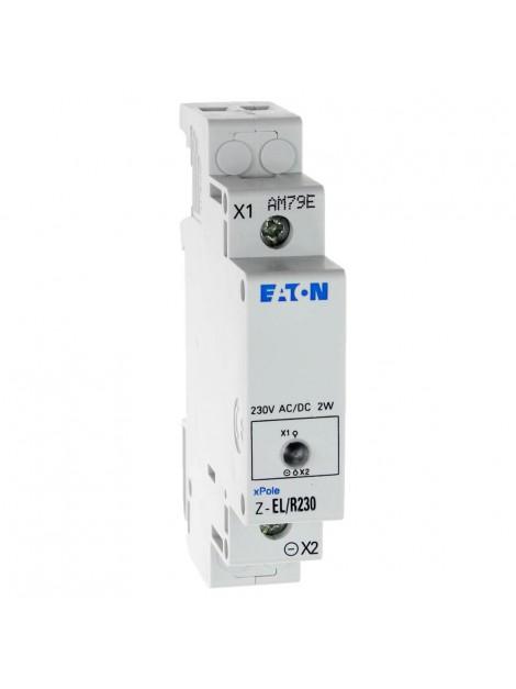 Lampka sygnalizacyjna 1 fazowa czerwona 230V AC/DC na szynę TH 35 Z-EL/R230 284921 Eaton Electric