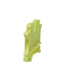 Złączka szynowa gwintowa 1-torowa ZJU-2,5 żółta Ergom