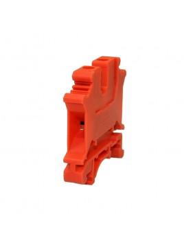 Złączka szynowa gwintowa 1-torowa ZJU-6 czerwona Ergom