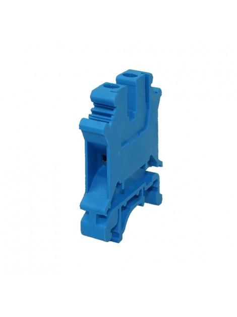 Złączka szynowa gwintowa 1-torowa ZJU-6 niebieska Ergom