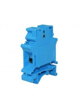 Złączka szynowa gwintowa 1-torowa ZJU-25 niebieska Ergom