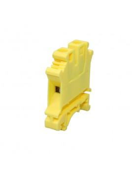 Złączka szynowa gwintowa 1-torowa ZJU-10 żółta Ergom
