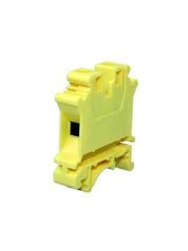 Złączka szynowa gwintowa 1-torowa ZJU-16 żółta Ergom