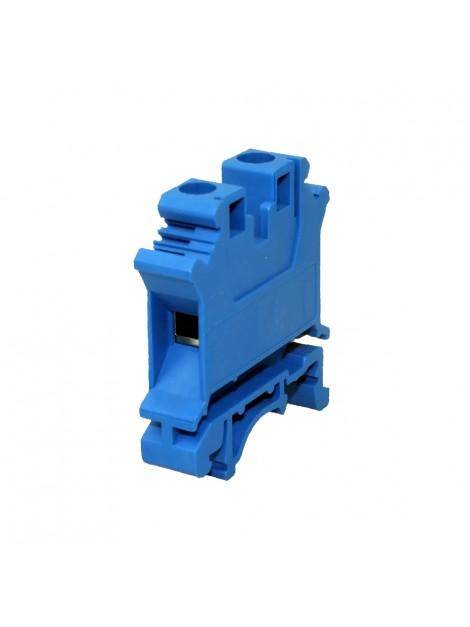 Złączka szynowa gwintowa 1-torowa ZJU-16 niebieska Ergom