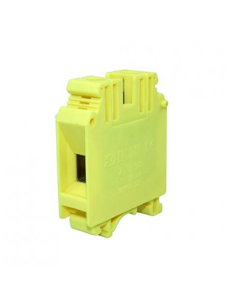 Złączka szynowa gwintowa 1-torowa ZJU-50 żółta Ergom