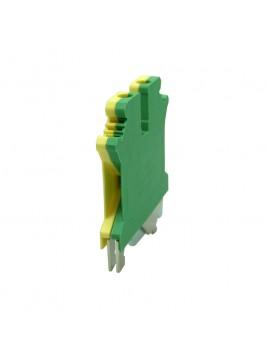 Złączka szynowa gwintowa 1-torowa ZJU-4PE żółto-zielona Ergom