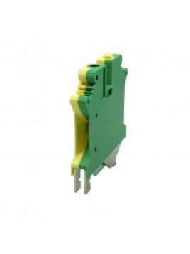 Złączka szynowa gwintowa 1-torowa ZJU-6PE żółto-zielona Ergom