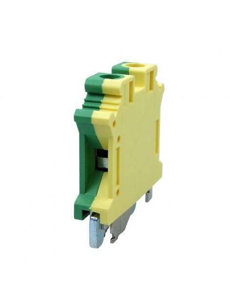 Złączka szynowa gwintowa 1-torowa ZJU-10PE żółto-zielona Ergom