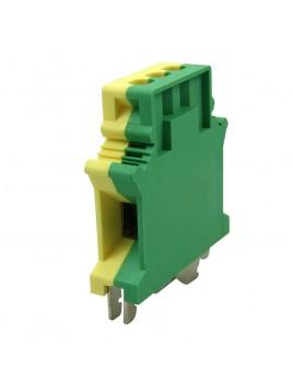 Złączka szynowa gwintowa 1-torowa ZJU-25PE żółto-zielona Ergom