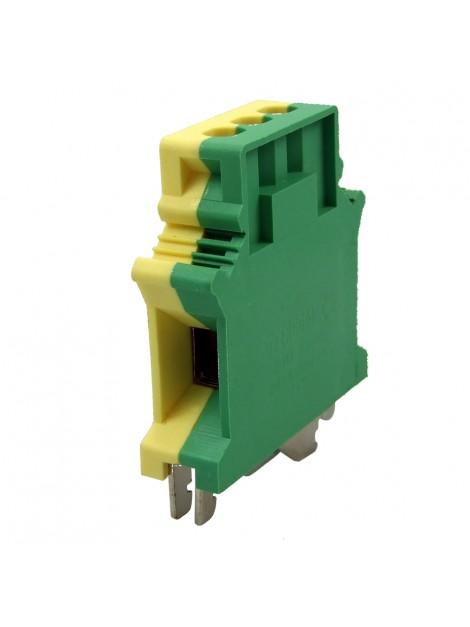 Złączka szynowa gwintowa 1-torowa ZJU-50PE żółto-zielona Ergom