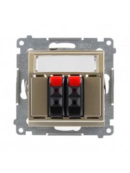 Gniazdo głośnikowe podwójne złoty mat DGL32.01/44 Kontakt Simon54