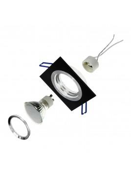 Oprawa LED kwadrat 3w1 3,5W GU10 czarny szczotkowany Tris