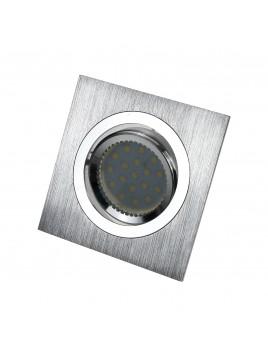 Oprawa LED kwadrat 3w1 3,5W GU10 srebrny szczotkowany Tris